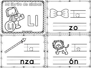 Sílabas - Mini librito sílabas con L / Spanish Syllables m