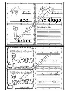 Sílabas - Mini librito sílabas con M / Spanish Syllables mini book Letter M