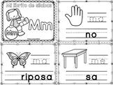Sílabas - Mini librito sílabas con M / Spanish Syllables mini book Letter M
