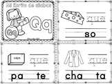 Sílabas - Mini librito sílabas con Q / Spanish Syllables mini book Letter Q