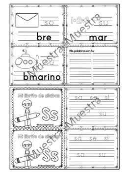 Sílabas - Mini librito sílabas con S/ Spanish Syllables mini book Letter S