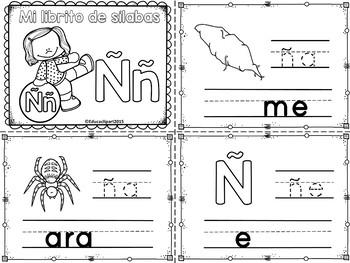 Sílabas - Mini librito sílabas con ñ / Spanish Syllables mini book letter ñ