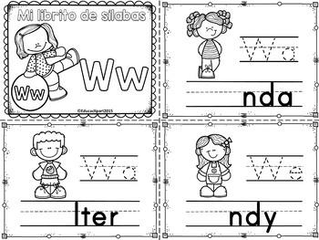 Sílabas - Mini librito sílabas con W / Spanish Syllables m
