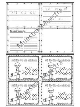 Sílabas - Mini librito sílabas con X / Spanish Syllables mini book Letter X
