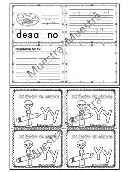 Sílabas - Mini librito sílabas con Y / Spanish Syllables mini book Letter Y