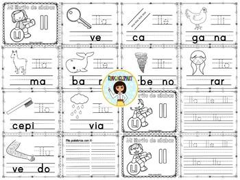 "Sílabas - Mini librito sílabas con ll / Spanish Syllables mini book digraph ""Ll"""