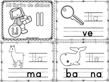 Sílabas - Mini librito sílabas con ll / Spanish Syllables