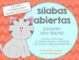Sílabas abiertas (paquete 1) - Spanish Open Syllables Activities