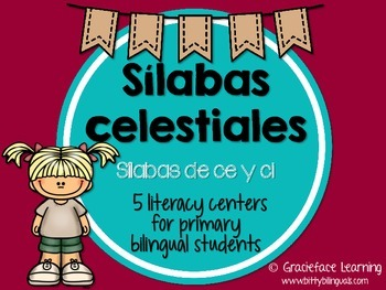 Sílabas celestiales - Spanish Phonics Activities for ce y ci