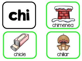 Sílabas chidas – Spanish phonics activities for cha, che, chi, cho, chu
