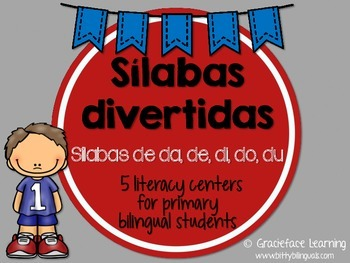 Sílabas divertidas – Spanish phonics activities for da, de, di, do, du