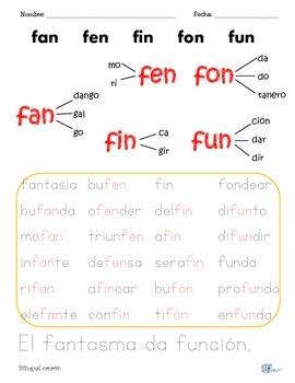Sílabas dobles o mixtas con: fal, fan, far, fas
