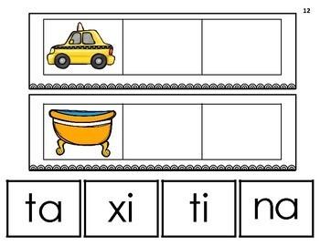 Silabas con t: ta, te, ti, to, tu. Centros de Aprendizaje