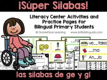Sílabas geniales – Spanish Phonics Activities for ge y gi