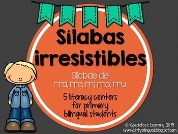 Sílabas irresistibles – Spanish Phonics Practice for rra,