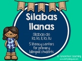 Sílabas llanas – Spanish Phonics Activities for lla, lle, lli, llo, llu