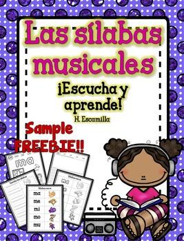 Sílabas y Sonidos musicales - Musical Fluency in Spanish - FREE Sample