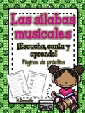 Sílabas musicales - Páginas de práctica ** Musical Syllable Practice Sheets