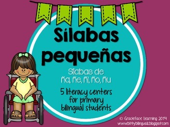 Sílabas pequeñas – Spanish phonics activities for ña, ñe,