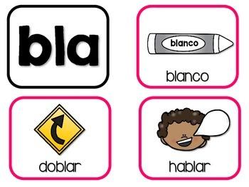 Sílabas tremadas – Super Pack 2 – L  Blends in Spanish!