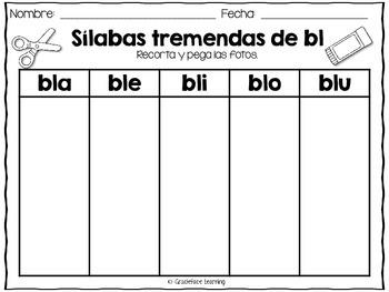 Sílabas tremadas de Bl – Spanish Blends for Bl