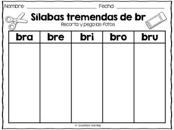Sílabas tremadas de Br – Spanish Blends for Br