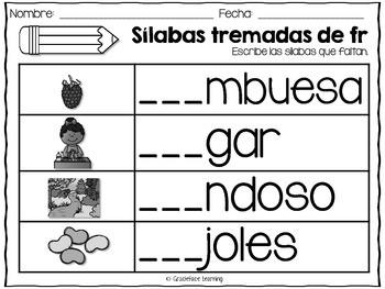 Sílabas tremadas de Fr – Spanish Blends for Fr