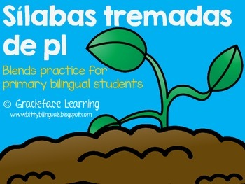Sílabas tremadas de Pl – Spanish Blends for Pl