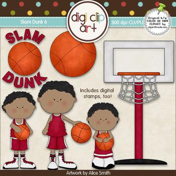 Slam Dunk 6-  Digi Clip Art/Digital Stamps - CU Clip Art