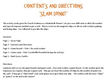 Slam Dunk! - An Open-Ended Activity for Speech Therapy