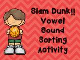 Slam Dunk Game for Vowel Sounds Preschool- Kindergarten an