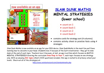 FREE Maths Mental Strategies:  Sort Count On/Count Back by