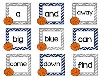 Slam Dunk Sight Words- a review game for small groups or centers