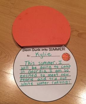 Slam Dunk into Summer! A Writing Craftivity FREEBIE