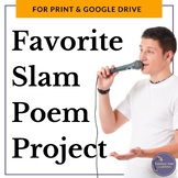 Text Analysis Slam Poetry Project for Google Drive & Print