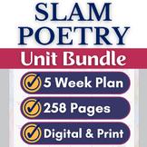 Slam Poetry Unit Plan, Activities, Resources Bundle, Google Drive Digital, Print