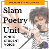 Slam Poetry Unit Plan, Activities Bundle, Google Drive Dig