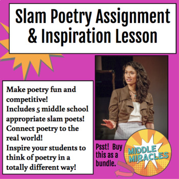 Slam Poetry Inspiration & Assignment