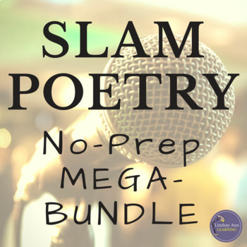 Slam Poetry Activities, MEGA Bundle for Google Classroom, OneDrive, Print