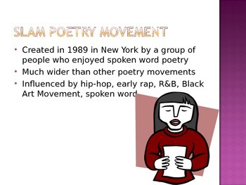 Slam Poetry Movement PowerPoint