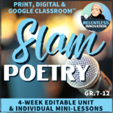 4-Week Slam Poetry & Spoken Word Poetry Unit Plan, Lessons, Activities