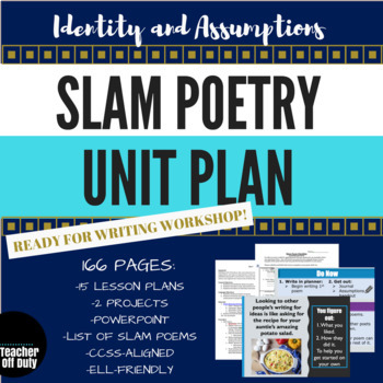 Slam Poetry Unit Plan for Writing Workshop--Middle-High School