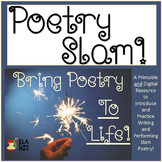 Poetry Slam Video Links, Handouts, Sample Poems and More! Printable and Digital!