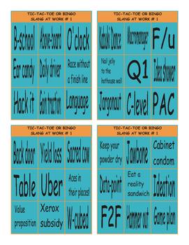 Slang at Work # 1 Tic-Tac-Toe or Bingo