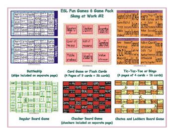 Slang at Work #2 6 Board Game Bundle