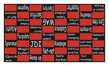 Slang at Work #2 Checker Board Game