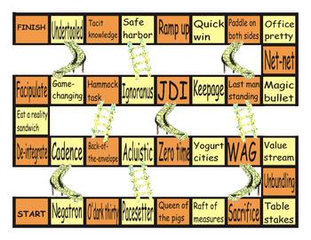 Slang at Work #2 Chutes and Ladders Board Game