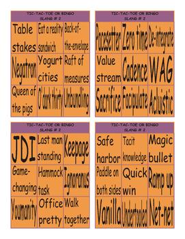 Slang at Work # 2 Tic-Tac-Toe or Bingo