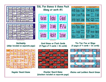 Slang at work #1 6 Board Game Bundle