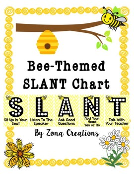 Slant Chart Poster - BEE-THEMED - Classroom Participation Strategy